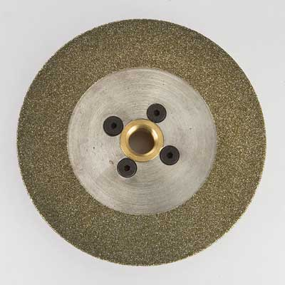 Diamond electroplated blade with wide wrap and flange