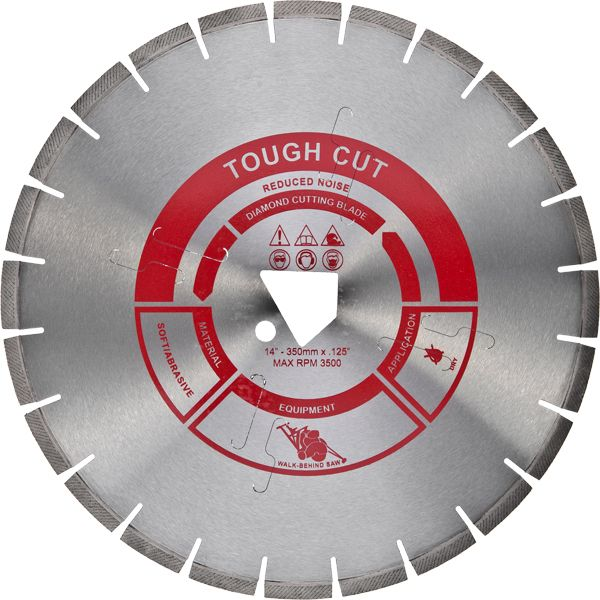 Tough Cut Reduced Noise Diamond Cutting Blade