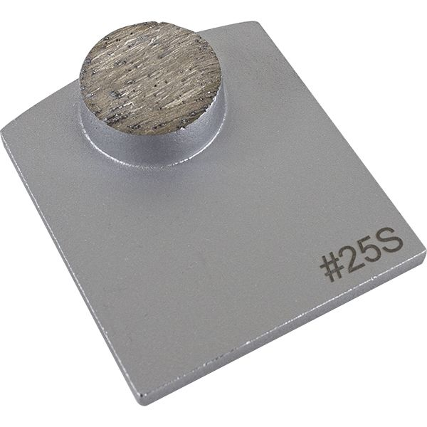 Switch grinding plate 1 round segment 25 grit soft bond
