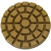 Flare resin polishing pad for concrete
